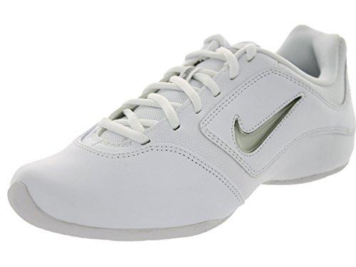 Nike Women's Sideline II Insert White/White/Matte Silver Training Shoe 6 Women US - Cheerleading Shoes Nike