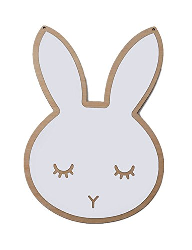 Bunny Mirror - newEmergingstyle Wall Decor for Baby Room Kid's Bedroom Mirror Decoration Bunny Cloud Wall Mirrors (Rabbit,with Butterfly Gift)
