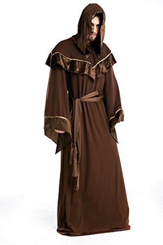Sorcerer Costume Mystic (Gothic Sorcerer European Religious Men and Priests Mystic Sorcerer)