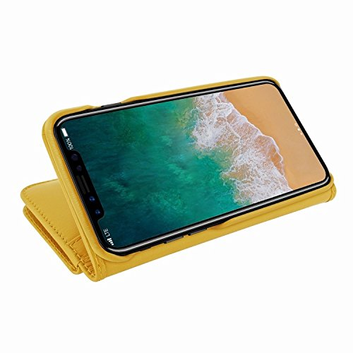 Piel Frama 793 Yellow WalletMagnum Leather Case for Apple iPhone X by Piel Frama (Image #5)