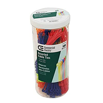 Assorted Multi Color Cable Ties (500 pieces)