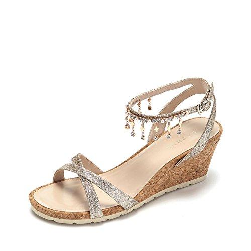 Hebilla De La Palabra Del Verano Y Sandalias/Azúcar Del Flujo Del Rhinestone Y Zapatos De Las Mujeres A