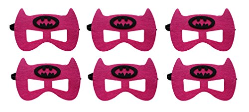 Rush Dance Superhero Princess Kids Halloween Costumes, Party Favors - 6 MASKS (Batgirl) (Batman Costume Sydney)