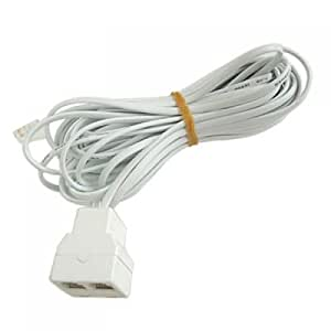 26 Feet 2 Jack Telephone Extension Cord