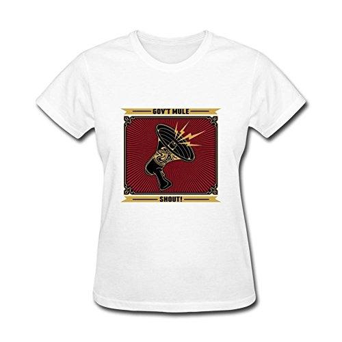 SUNRAIN Women's Govt Mule Band Shout T shirt (Mule Stoned)