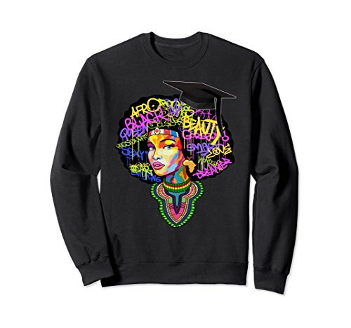 Unisex African American Queen Women Youth Afro Sweatshirt Small Black