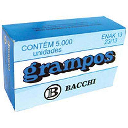 Grampo para Grampeador 23/13, Galvanizado, 5000 Grampos, Bacchi