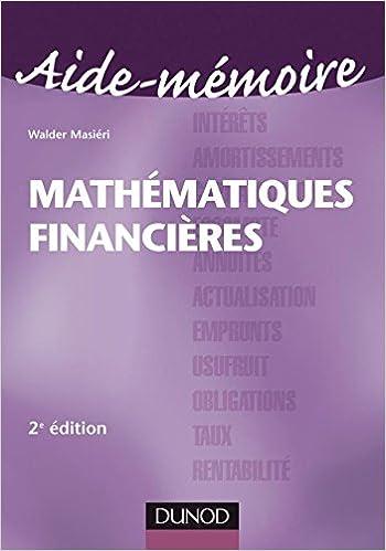 Walder Masieri Mathematiques Financieres Pdf Download. built giorno Sydney espais Compra partido