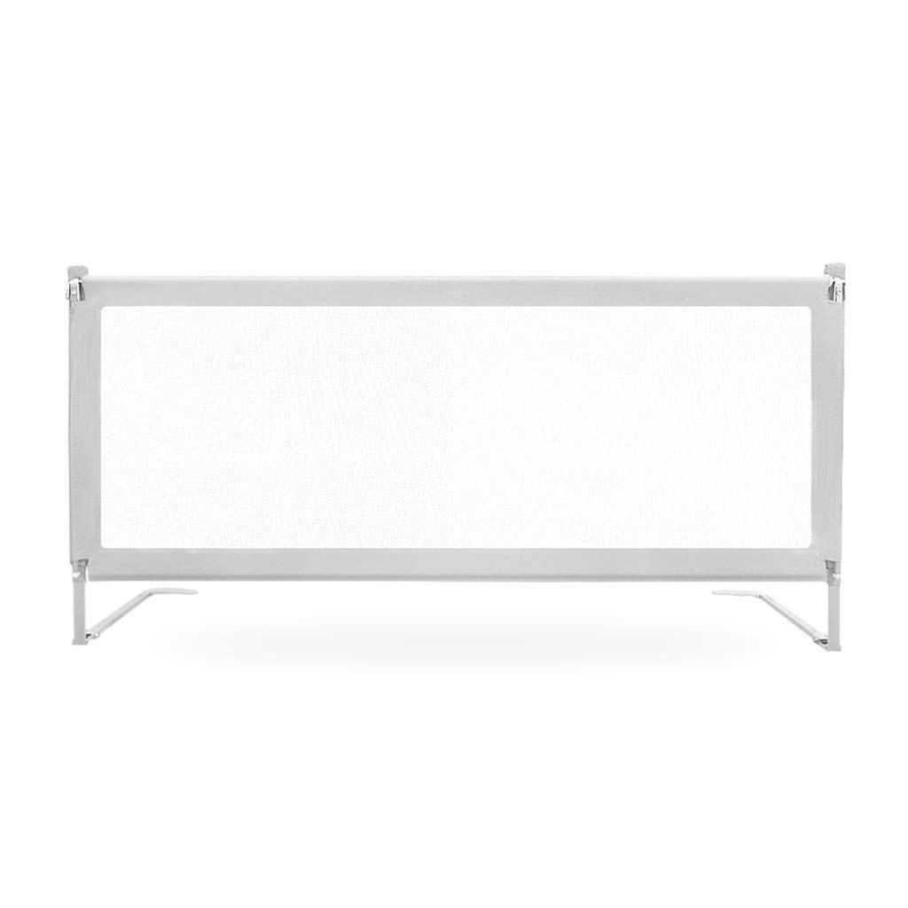 Baby Bed Rail for King Size Bed,Vertical Lifting Bed Guard Breathable Mesh for Baby and Children Safety Guards ZIM (Color : Gray, Size : 180cm)