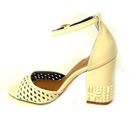 SKOS - Sandalias de vestir de Material Sintético para mujer Beige (26583-11)