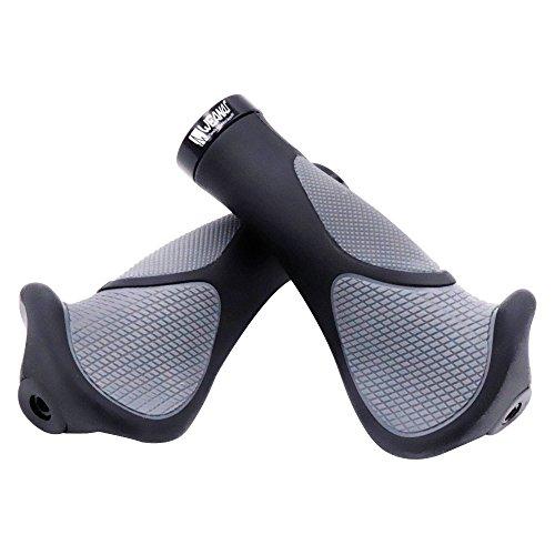 Weanas New Generation Bike Handlebar Grip Soft Gel Inserts Shock Resistance Ergonomics Comfort Design with G2 Screw Lock 1 Pair for Bicycle MTB XC FR Cyling (Standard)