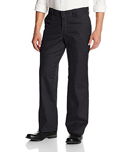 Dickies Men's Flex Relaxed Fit Straight Leg Twill Comfort Waist Pants, Black, 32 x 32