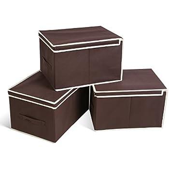 Homfa 30l Foldable Storage Box With Lid