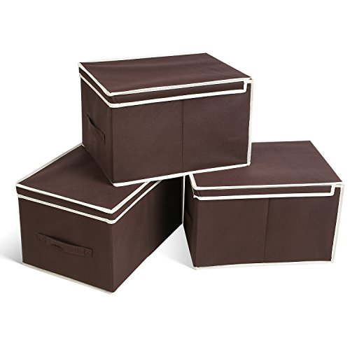 HOMFA 30L Foldable Storage Box with Lid Collaps...