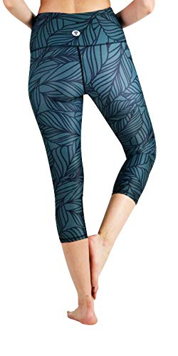 Yoga Democracy Eco-Friendly Urban Camo in Forest Green Leggings (Crops)