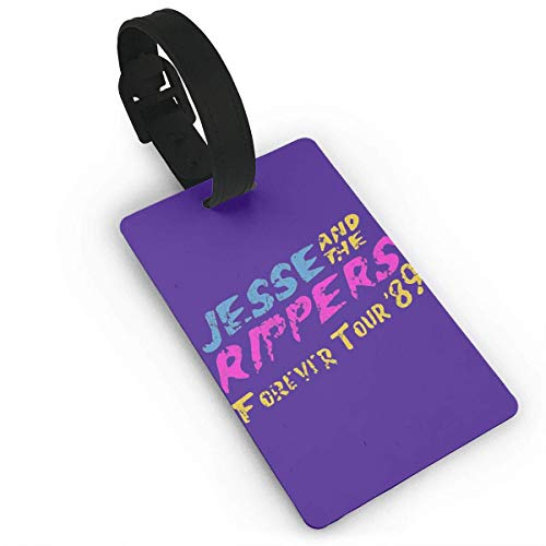 Jugbasee Jesse And The Rippers PVC Luggage Tags, Travel ID Baggage Bag Labels Size 2.2 X 3.7 inches