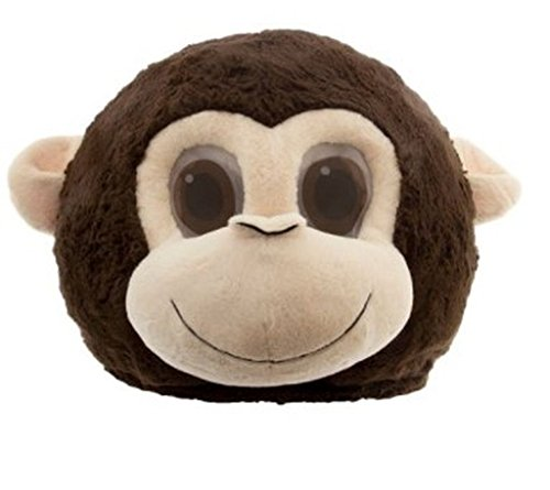 Baby Hershey Kiss Costumes (Maskimals Monkey Plush Head Halloween Costume)
