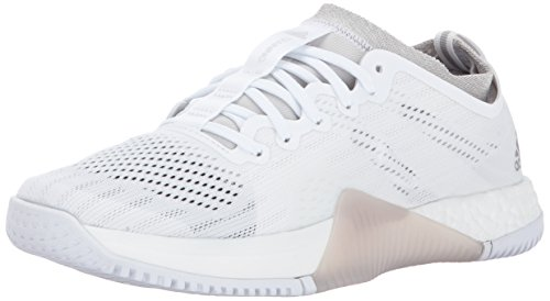 adidas Performance Women's Crazytrain Elite W Cross Trainer, White/Tech Silver/Grey One, 7.5 Medium US (Adidas Cross Trainer)