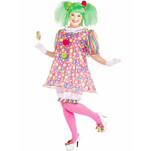 Forum Novelties Women's Tickles Clown Plus Size Costume, Multicolor, Plus