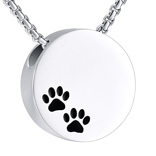 Double Black Dog & Cat Paw print Cremation Locket Jewelry Ashes Holder Urn Necklace For Pet by EternityMemory (Image #7)