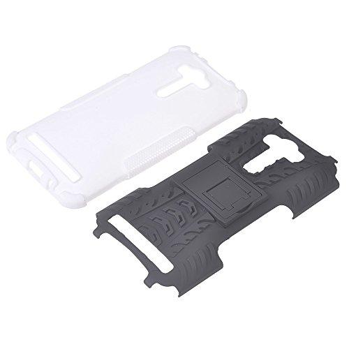 Asus Zenfone 2 Laser ZE550KL (5.5 inches) Funda,COOLKE Duro resistente Choque Heavy Duty Case Hybrid Outdoor Cover case Bumper Para Asus Zenfone 2 Laser ZE550KL (5.5 inches) - azul Blanco