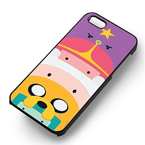 Adventure Time Totem Character pour Coque Iphone 5 or Coque Iphone 5S or Coque Iphone 5SE Case (Noir Boîtier en plastique dur) Q8V5RX