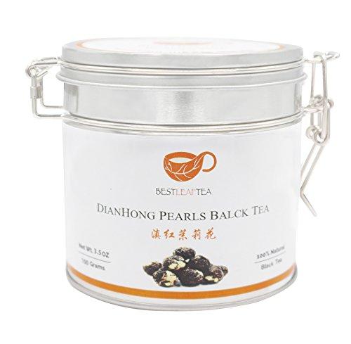 Best Leaf Tea- Yuan Nan Dian Hong Black Tea/Dragon Pearls Black Tea/100 gram/3.5 OZ