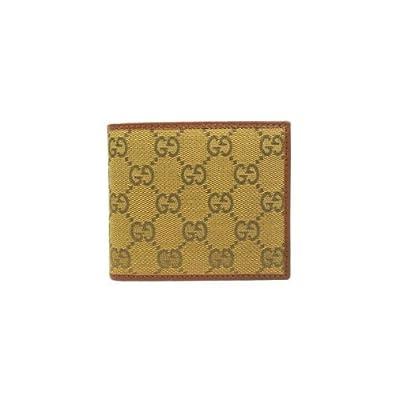 56145ddb6e9b Amazon | [グッチ] GUCCI GGキャンバス 二つ折りメンズ財布(小銭入れ ...