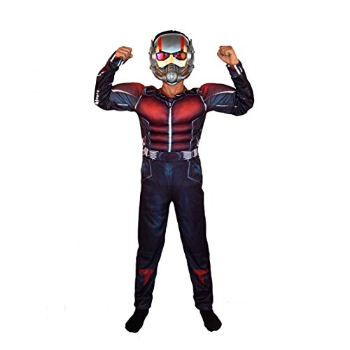 Ant-Man Jumpsuit Blister Set Child Costume One Size,Halloween Mask Costume for Party Ant-Man Mask Cosplay