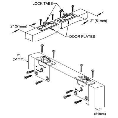 Amazon Com Johnson Hardware 138f Series Sliding Bypass Door