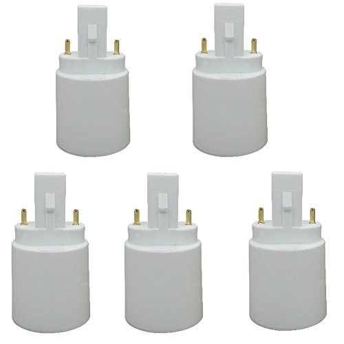 Xinyixing G23 to E27/E26 2-Pin Light Sockets Adapter, Light Bulb Socket, Bulb Base Adapter, Converts LED Light Holder Lamp Adapter Socket Changer (Pack of 5)