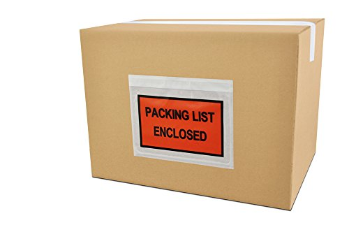 Packing List Envelopes Enclosed Full Face Top Load 2.0 Mil Thick - 7.5