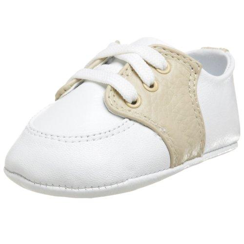 Baby Deer Conner Saddle Shoe (Infant/Toddler),White/Tan,0 M US Infant