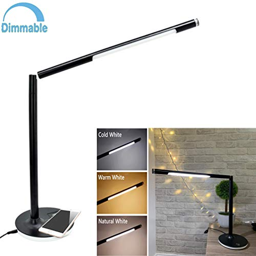 Price comparison product image W-LITE 5W LED USB Dimmable Desk Lamp,  Wireless Charger Table Lamp,  3 Light Functions,  Touch Control for Reading,  Study,  Work Lighting,  Standard Charge for iPhone,  Nexus, Samsung Galaxy