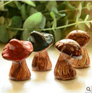 SU@DA Kreative Mini Garten Keramik kleine Pilz Hauptdekoration Foto Requisiten , 4.5cm*6.5cm