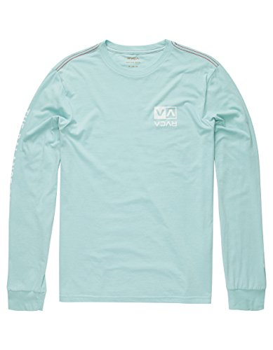RVCA Flipped Box Mens T-Shirt, Aqua, Large