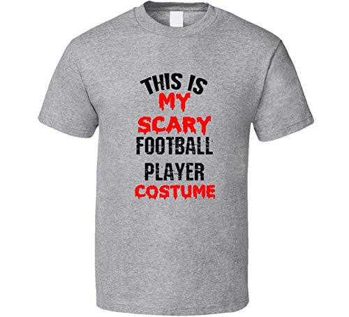 SHAMBLES TEES This is My Scary Football Player Costume Funny Occupation Halloween T Shirt L Sport Grey -