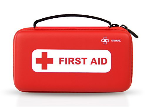 SHBC First Aid Kit (152 Piece) FDA Medical Supplies Small Waterproof Emergency at Home, Outdoors, Boat, Car, Camping, Workplace, Travel, Hiking and School, Survival.