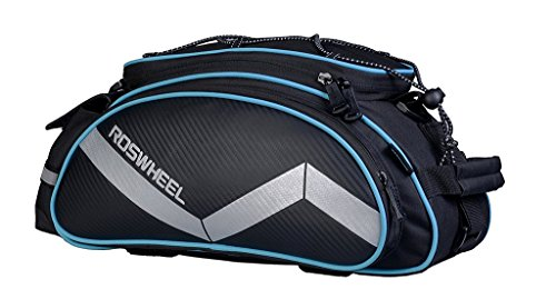 Roswheel Bike Rack Bag Seat Cargo Bag Rear Pack Trunk Pannier Handbag New (Black)