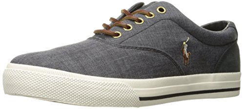 Polo+Ralph+Lauren+Men%27s+Vaughn+Sneaker%2C+Black%2FCharcoal+Grey%2C+9+D+US