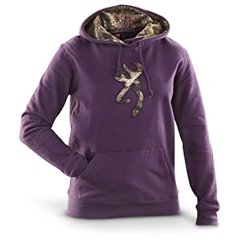 Amazon.com: Women's Browning Camo Buckmark Hooded Sweatshirt: Clothing