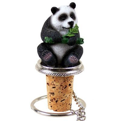 - Hand Painted Panda Wine Bottle Stopper - ATB04