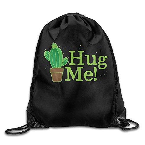 Hugs Me Cactus Drawstring Backpack Bag Beam Mouth Sport Bag Shoulder Bags For Men / Women from 05_&_NG