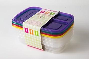 Sección 3 compartimentos Bandeja del alimento con la cubierta / caja de almuerzo, bandeja de