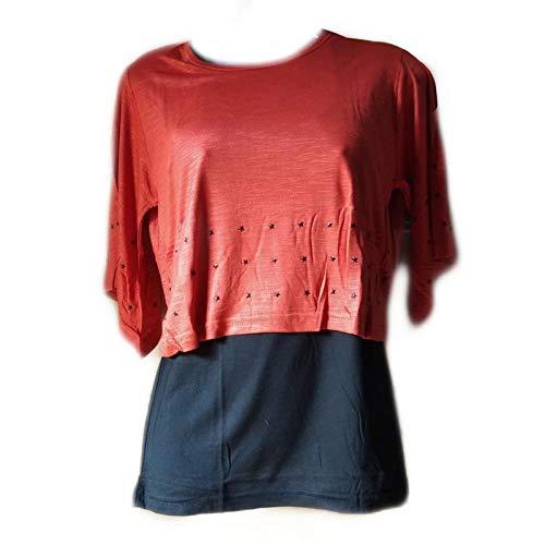 2b92517452c288 Swinging Shine Womens Daily Wear Round Neck Plain Tops Soft Cotton (Medium  Size 15-