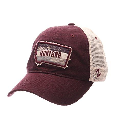 Montana Grizzlies Roadtrip Adjustable Snapback Cap - NCAA Trucker Mesh, One Size Baseball (Grizzlies Hat Cap)