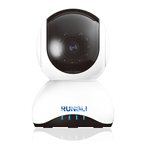 RUNGLI Wireless WiFi IP Camera, 720P Infrared Motion Detection Security Camera,Two-Way Audio Night Vision Camera Surveillance Set