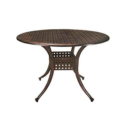 Augusta Home Sebastian Outdoor Cast Aluminum Round Dining Table ()