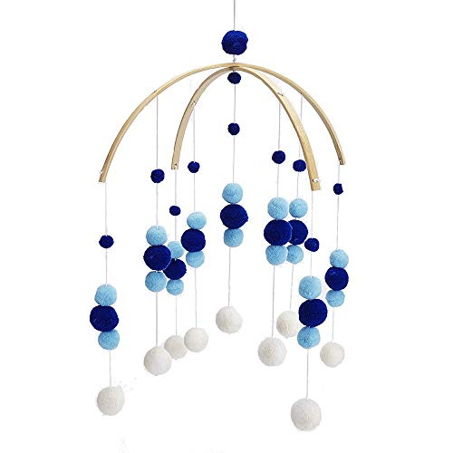 HORHIN Bed Bell for Baby, Nordic Style Wooden Wind Chime Handicraft Wind Bell Decoration Bed Bell Toy Wooden Hanging Baby Toys for Rattle Toy Children's Room Decoration Baby Photography Props ()