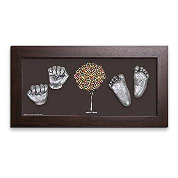 fef0acb3a26a Amazon | Moms Present 赤ちゃんの手と足 WALNUT FRAMEで3DプリントDIY ...